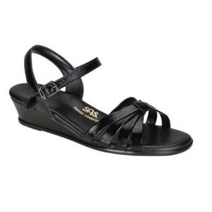 SAS Strippy Quarter Strap Wedge Comfort Sandals 8